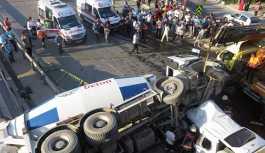Kadıköy'de, beton mikseri, aracın üstüne uçtu: Ölü ve yaralılar var