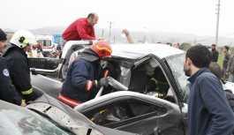 MHP'li eski başkanın eşi kazada...