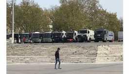 CHP'nin oturma eylemi öncesi Taksim'de polis ablukası
