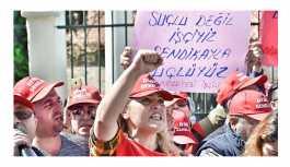 İşsiz bırakılan yüzlerce taşeron işçisi eylemde