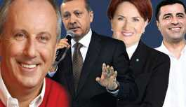 Erdoğan mı, İnce mi? Son seçim anketinde fark kıl payı