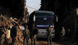 Şam'ın güney mahallelerinden 3200 militan tahliye edildi