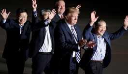 Trump, Kuzey Kore'nin serbest bıraktığı 3 ABD'liyi karşıladı