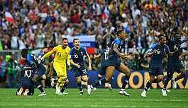 2018 Dünya Kupası'nın sahibi Fransa...