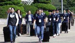 Basketbol diplomasisi: Güney Koreli basketbol oyuncuları Kuzey Kore'ye gitti