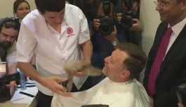 CHP'li Atıcı, OHAL bitince sakallarını kestirdi