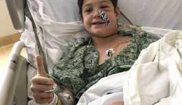 Ağaç evden düşen 10 yaşındaki çocuğun yüzüne et şişi saplandı
