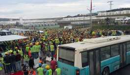 3. havalimanı inşaatında eylem 2. gününde: Çok sayıda işçi gözaltında