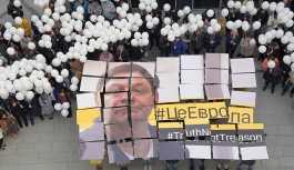 Moskova'da, Ukrayna'da tutuklu Rus gazeteci Vışinskiy'e destek eylemi