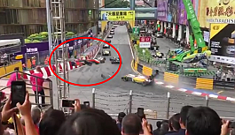 Macau'daki F3 Dünya Kupası yarışında büyük kaza