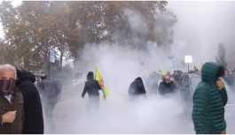 Strazburg'da Öcalan için yapılan eyleme müdahale