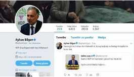 HDP'li Bilgen'den Destici'ye sosyal medyadan yanıt