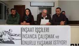 İnşaat işçilerinden imza kampanyası