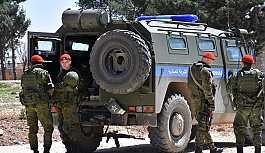 Rus askeri polisi Menbiç'te devriyeye başladı