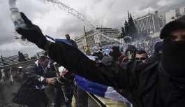 Yunanistan'da olaylı Prespa protestosu: Makedonya Yunan'dır, elinizi çekin