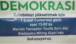 HDP'nin Mersin mitingine izin çıktı