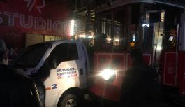 İstiklal Caddesi'nde tramvay kazası