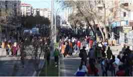 Diyarbakır'da mitingin sonrası yürüyüş: Leyla Güven onurumuzdur
