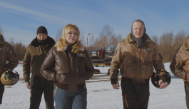 Rus hava akrobasisi grubu, Captain Marvel'e selam çaktı
