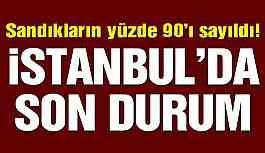 İstanbul seçim sonuçlarında son durum! Sandıkların yüzde 90'ı sayıldı