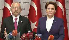 Kılıçdaroğlu ve Akşener ortak basın açıklaması yaptı