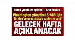 """""""ABD gelecek hafta Türkiye'ye yaptırımlarını açıklayacak"""""""