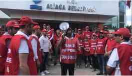 Aliağa Belediyesi'nden çıkarılan işçilerin son maaşları ödenmiyor