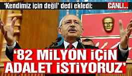 CHP Genel Başkanı Kemal Kılıçdaroğlu, grup toplantısında