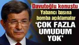 Davutoğlu, FT'ye konuştu: AKP'de genel bir mutsuzluk var