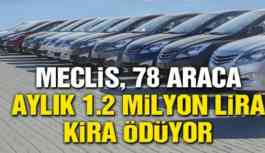 Makam 'lüksü': 78 araca aylık 1.2 milyon lira kira!