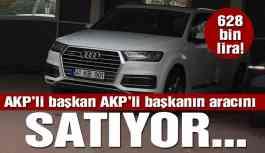 AKP'li başkan AKP'li başkanın lüks cipini satıyor