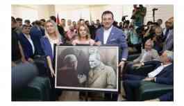 İmamoğlu HDP'ye Atatürk Portresi hediye etti