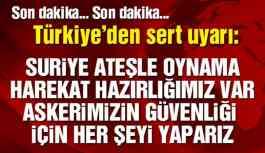 Sondakika... Türkiye'den Sert Uyarı!
