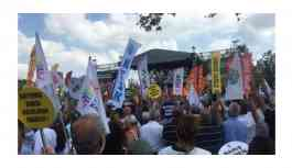 İstanbul'da Dünya Barış Günü mitingi