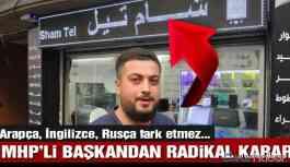 MHP'li Başkandan Radikal Karar!