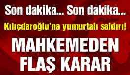 Son dakika… Kılıçdaroğlu'na yumurtalı saldırıda flaş gelişme!