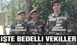 Bedelli askelik yapan AKP'li vekiller terhis oldu