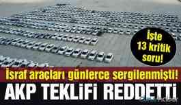 Günlerce sergilenmişti! AKP teklifi reddetti!