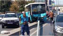 İstanbul'da özel halk otobüsü kaldırıma çıktı: 5 yaralı