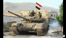 Suriye ordusu ağır silahlarıyla birlikte Menbic'e girmeye hazırlanıyor