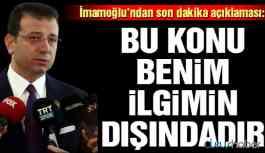"""İmamoğlu'ndan """"Saray'a giden CHP'li"""" iddiasıyla ilgili açıklama"""