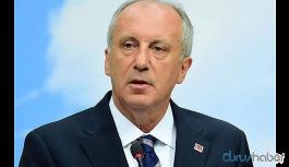 Muharrem İnce'den açıklama: 'CHP yönetimi bu saatten sonra konuyu geçiştiremez'