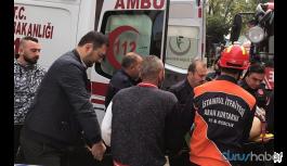 Otoyolu inşaatında iskele çöktü: 4 işçi yaralandı