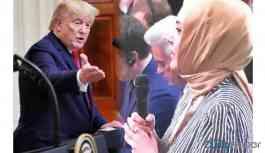 Trump'tan Hilal Kaplan'a: Gazeteci olduğunuza emin misiniz?