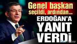 Davutoğlu GP Genel Başkanlığı'na seçildi, hemen ardından Erdoğan'a sert yanıt!