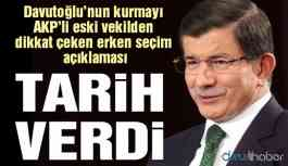 Davutoğlu'nun kurmayından dikkat çeken erken seçim açıklaması