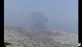 Reyhanlı yakınlarında patlama sesleri:Batı İdlib bombalanıyor