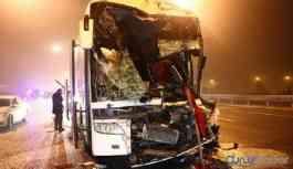 Yolcu otobüsü kaza yaptı: Çok sayıda yaralı
