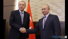 Erdoğan ile Putin Berlin'de konferans öncesi görüştü
