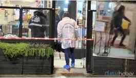 Elinde pala ile restorana giren kişi polis tarafından öldürüldü